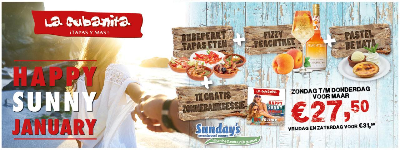 La Cubanita SUNDAYS Actie 2020 Website banner vesigingspag