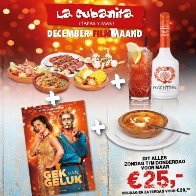 La Cubanita DEC 2017 GEK VAN GELUK Filmmaand FB PUSHPOST v1