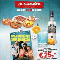 La Cubanita Maart 2018 mannenvan Mars Filmmaand Actie FB PUSHPOST v1